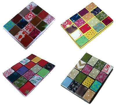 Nepalese Ethnic Handmade Paper Notebook Diary Journal Patchwork Colourful