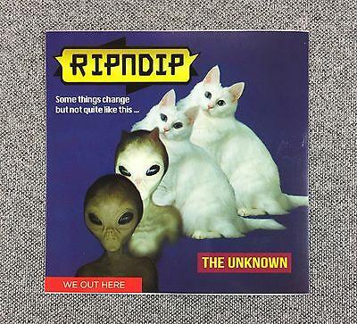 RipNDip Sticker Iguana Cat Alien 4in si