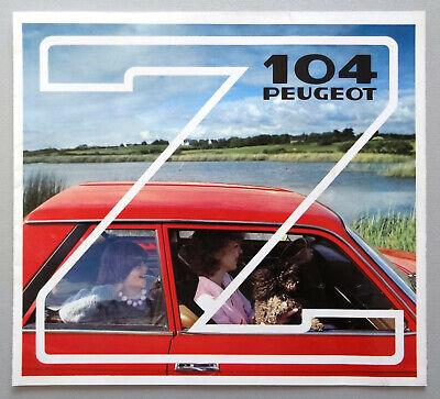 V14091 PEUGEOT 104Z - DEPLIANT - 1981 - 20x22 - FR