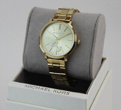 NEW AUTHENTIC MICHAEL KORS JARYN GOLD WOMEN'S MK3500 WATCH