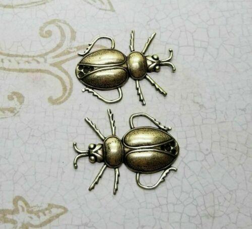 Brass Beetle Stampings x 2 - 117RAT
