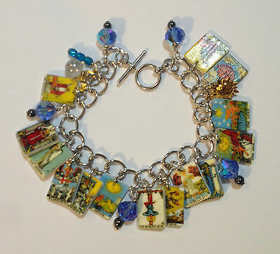 TAROT CARDS BRACELET FORTUNE TELLER  CHARMS FREE TO SWITCH OUT CARD CHARMS
