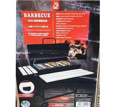 BARBECUE CON COPERCHIO 108 X 71 X 103 CM GRIGLIA GRILL