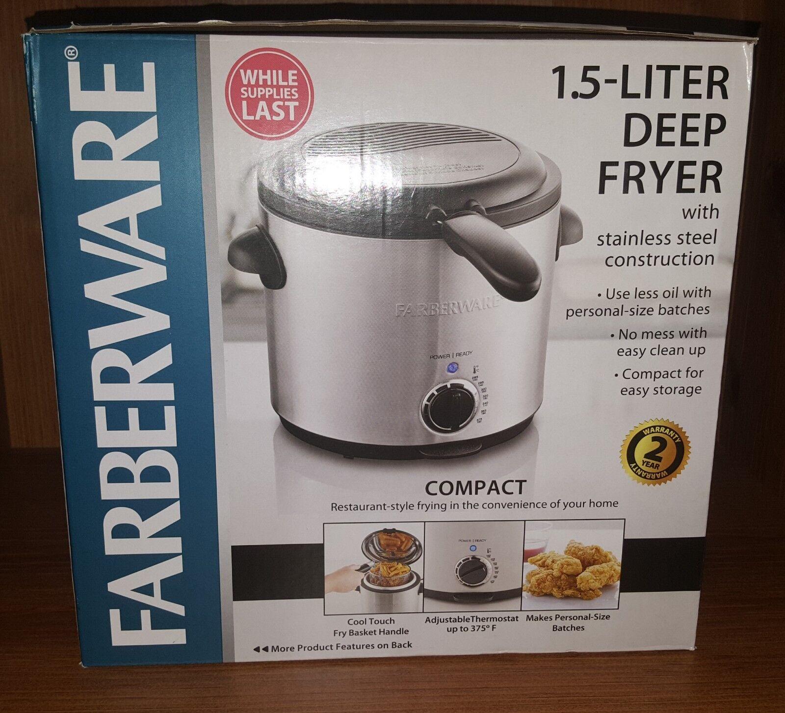 FARBERWARE 1.5-Liter Stainless Steel Deep Fryer