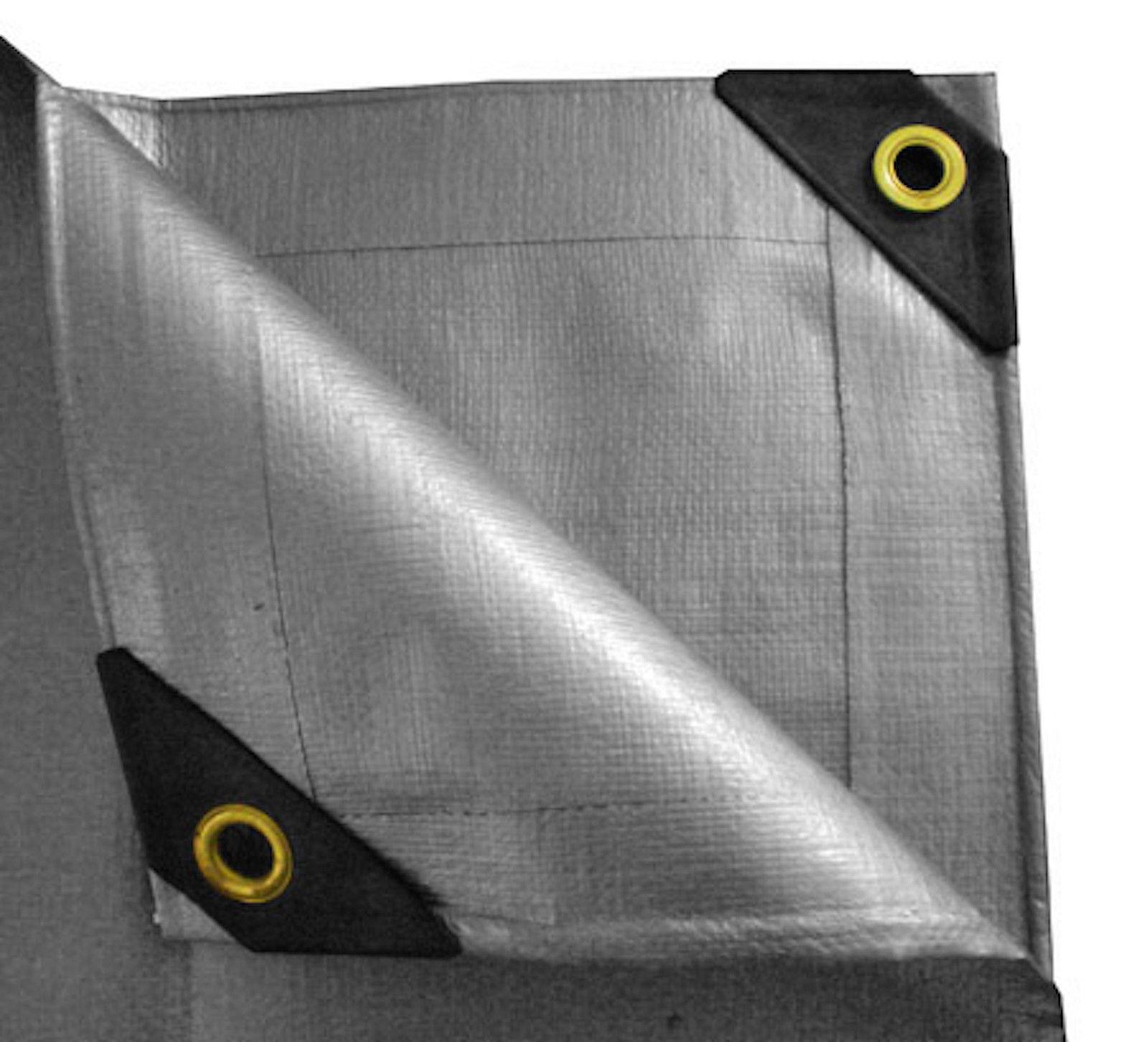 12 mil heavy duty canopy tarp silver