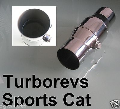 """2"""" SPORTS EXHAUST CATALYTIC 200 CELL CONVERTOR CAT UNIVERSAL STAINLESS STEEL"""