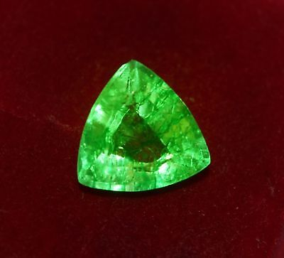12.66x12.62mm (6.25cts) TRILLIANT-CUT CERTIFIED NATURAL (GGL) COLOMBIAN EMERALD