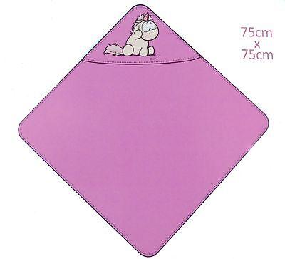 NICI Badetuch mit Kapuze 75x75cm Bade-Poncho 100% Baumwolle für Babys und