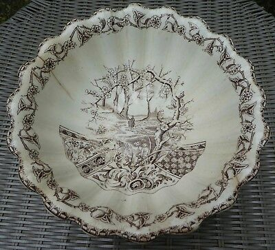 Aesthetic Movement - T & R Boote England - Yosemite - Transferware Footed Bowl