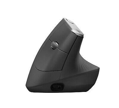 Logitech MX Vertical Advanced Ergonomic Wireless Bluetooth Mouse - Black