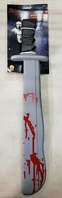 y the 13th Plastic Bloody Machete Knife Prop Halloween (Jason Voorhees Machete Halloween)