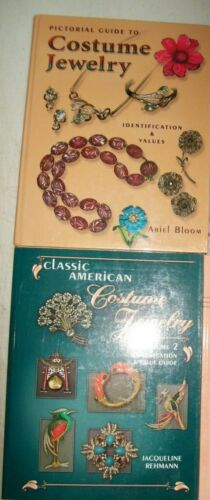 2 Vintage Costume Jewelry PRICE GUIDE Collector Books Ring Necklace Earrings two