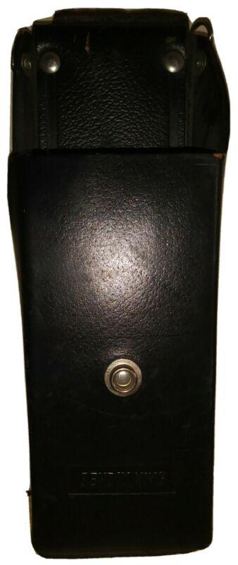 Bendix King Leather Case Holster CB Walkie Talkie Ham Radio Heavy Duty Belt Clip