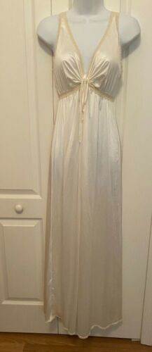 Vintage White Nylon long nightgown