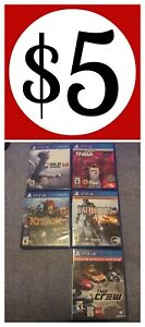 11 ps4 games  $5-$10 each