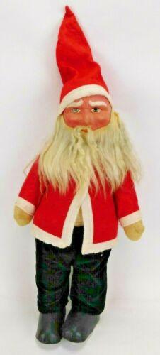 "Antique German Straw Filled Santa Claus Doll 25"" Christmas St. Nicholas"