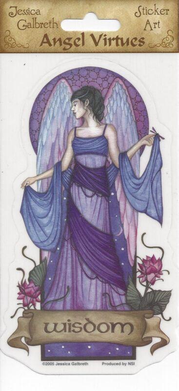 WISDOM Angel Virtues Fairy Sticker Vinyl Car Decal Jessica Galbreth faery faerie