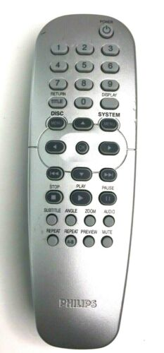 Philips Model RC2K16 Original DVD Remote Control Silver - Tested And Working