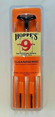 Hoppe's 3PU Aluminum Cleaning Rods Fits All Calibers Rifles/Pistols 3 Pieces
