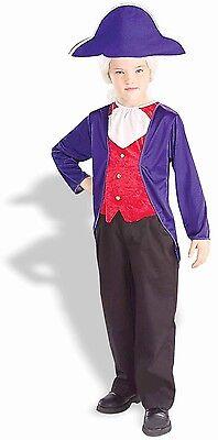 Kids George Washington Costume (Boys George Washington Costume President S Small M Medium L Large Child Kids)