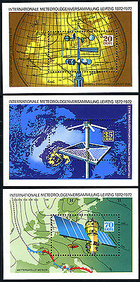 Germany DDR/GDR 1362-1364 S/S,MNH. Intl. Meteorologists' centenary meeting,1972