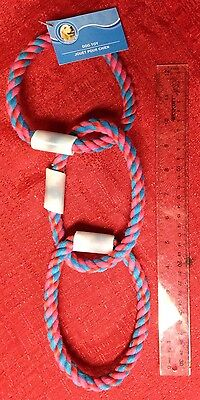 Rope 3 Ring Dog Chew Toy Brand New Tug Toy 15 Inches