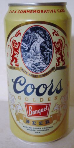 2016 12 oz . COORS COMMEMORATIVE BEER CAN, ( 2 OF 4 )  BOTTOM OPENED!