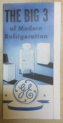 GE General Electric Monitor Top 3 color Folder all of the 1935 refrigerator line
