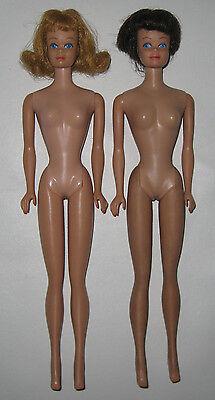 Lot of 2 Vintage 1960s Mattel Barbie Straight Leg Nude Midge Dolls HT35