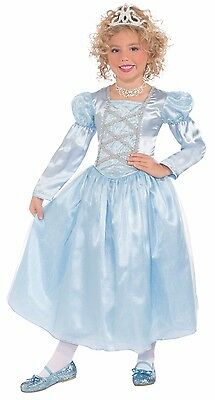 Blue Princess Costume Cinderella Halloween Dress Girls Kids Child Size Medium - Cinderella Halloween Costume Child