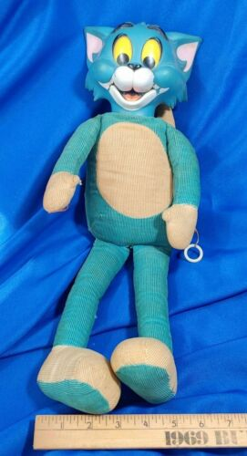 """1965 Tom And Jerry Mattel Pull String Talking Toy Cartoon Doll 18"""" Rubber Head"""