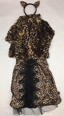 Halloween Costumes Brown Guy ((Medium) Halloween Costume LEOPARDESS Female Leopard/ Cat Dress COSPLAY,)