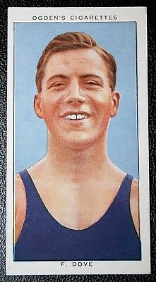 Swimming   Dove  Great Britain 1930's  100 Yards Champion   Vintage Card  VGC
