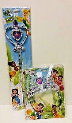 Disney Fairies Tinkerbell Feen Fasching Karneval Zauberstab Zepter Krone Set