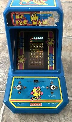 MS. PACMAN Vintage Tabletop Electronic Game Coleco 1981 Mini Arcade MS. PAC-MAN