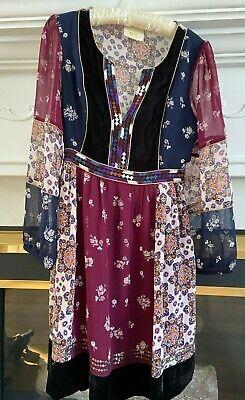 New Anthropologie Quartier Latin Dress by Maeve Retail $158 Peasant Bohemian M