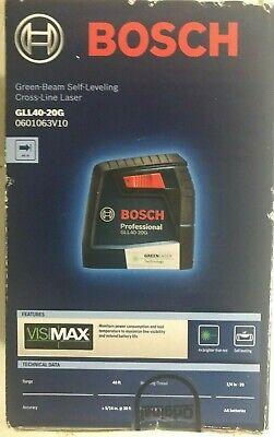 Bosch GLL40-20G Green Beam Self-Leveling Cross Line Laser