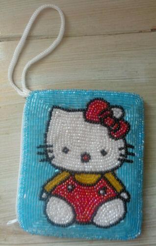 Hello Kitty Vintage Beaded Coin Purse Wristlet