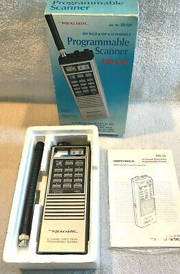 Realistic Pro-38 Programmable Scanner 10 Channel Direct Entry No. 20-139 - New