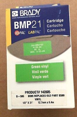 Brady Label Maker Cartridge - Bmp 21 - Green Vinyl-12 X 21 - 142805