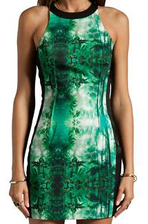 Cameo Designer State of Grace Dress 10 Medium Forest Print Fesitv