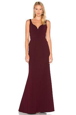 NEW JILL STUART Raisin Red Classic Best Dressed Mermaid Stretch Crepe Gown 2 (Gossip Girl Best Dresses)