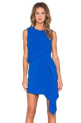 Alexander McQueen McQ Draped Cobalt Blue Dress-EUR38/UK8-10