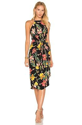 REVOLVE Privacy Please Lehunt Dress In Black Floral Sarong Tie Front Size -