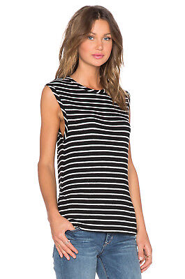 Nwt Hye Park and Lune Women's Dylan Black White Tank Top Striped Size 2(M)