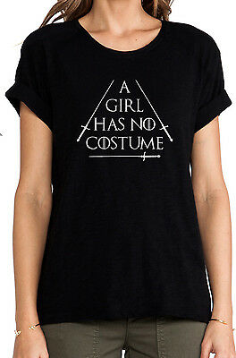 A Girl Has No Costume Shirt Funny Couples Halloween T-Shirt Game of - Funny Couple Costumes