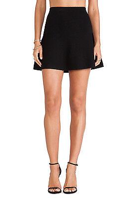 Nwt $165 Theory Gida S Ameera Stretch Wool Blend Mini Skirt Black 10