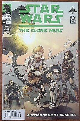 Star Wars: The Clone Wars (2008) #4 - Signed Comic Book - Dark Horse Comics