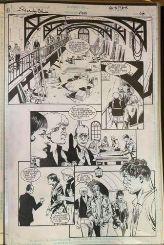 MODESTY BLAISE DC GRAPHIC NOVEL DICK GIORDANO ORIGINAL ART PAGE #116 #oa-1200