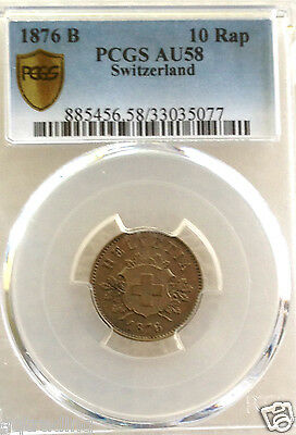 1876  swiss 10 rap   au 58  #69